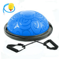 Полусфера BOSU Classic V3 гимнастическая, 58см., (синяя) в комплекте с ножным насосом