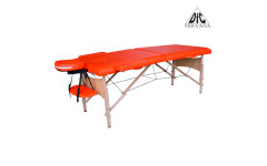 Массажный стол DFC NIRVANA, Relax, дерев. ножки, цвет оранжевый (Orange)