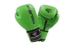 Перчатки боксерские KouGar KO500-6, 6oz, зеленый