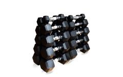 Набор гексагональных гантелей 10 пар от 1 до 10кг