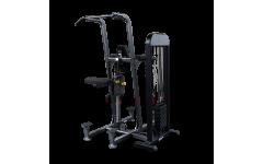 Блочный тренажер турник-брусья-отжимания с противовесом Body-Solid FCD-STK с весовым стеком 95 кг