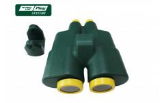 Пластиковый бинокль зеленый
