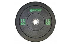 Диск бамперный черный 10 кг